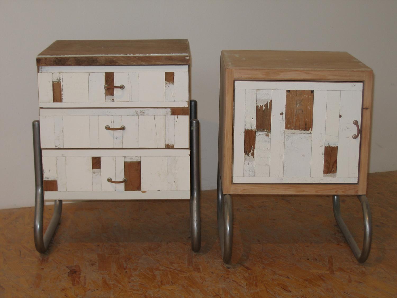 nieuwe nachtkastjes van oude gemaakt