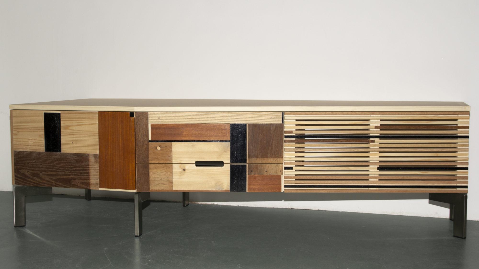 Op maat gemaakte tv/audio meubel